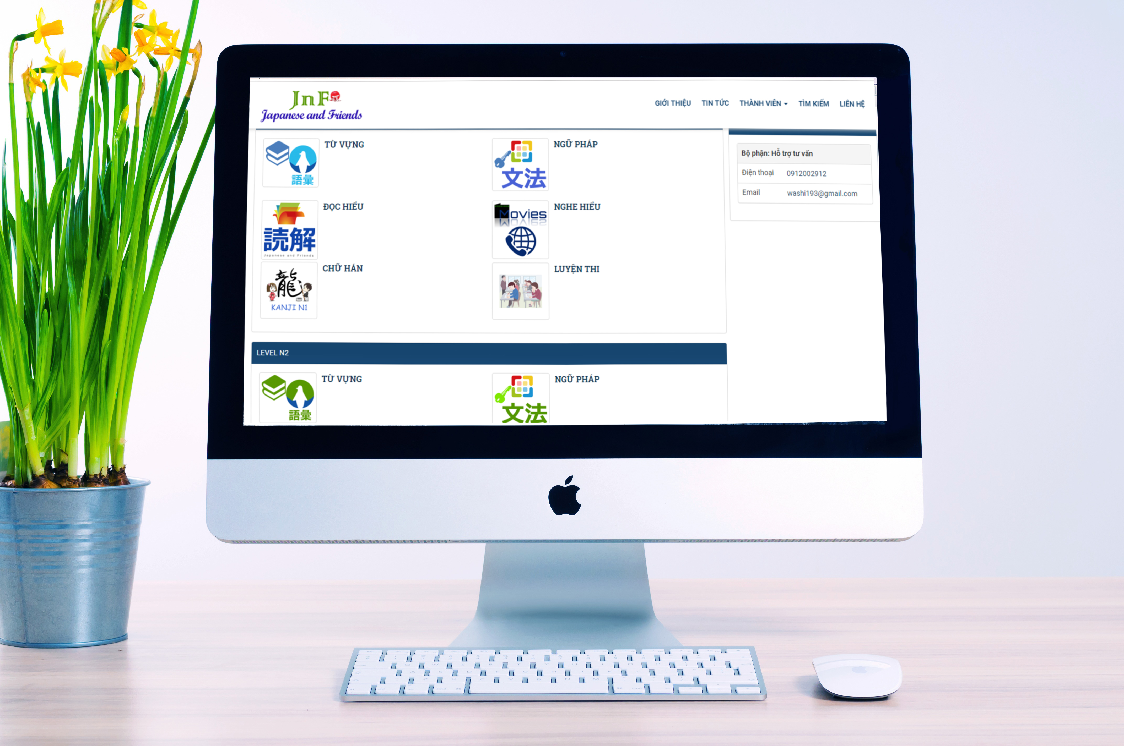 Website jpnfriend.net ra đời là kết quả của quá trình hợp tác giữa JNF và đơn vị thiết kế website TDFOSS